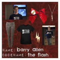 """NAME: Barry Allen; CODENAME: The Flash"" by comorbid19 ❤ liked on Polyvore featuring Andrew Martin, Talia Naomi and Witchery"
