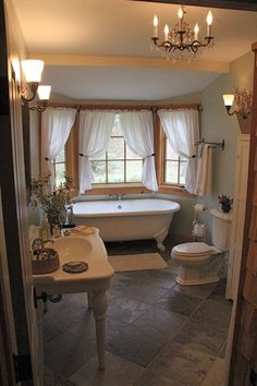old fashioned.. would need to add a shower somewhere.. but very pretty