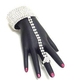 Wrap around Crystal Hand Chain / Slave Bracelet / BraceletRing Set / AZBLSB002-SCL  Price : $49.00 http://www.arrascreations.com/around-Crystal-Chain-Bracelet-AZBLSB002-SCL/dp/B00N4O7B06