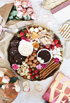 Date Night Dessert Fondue Platter for Two - Celebrations at Home