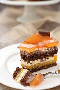 Ambassador cake with peaches- Ambassador- Torte mit Pfirsichen Ambassador cake with peaches 🔑 Baking with fun - Pastry Recipes, Cake Recipes, Dessert Recipes, Torte Recepti, Naked Cakes, Frozen Yoghurt, No Cook Desserts, Polish Recipes, Food Cakes