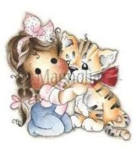 Magnolia TILDA WITH DAISY MAE THE TIGER Rubber Stamp Animal of the Year 2014