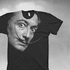 Dali shirt Mens American Apparel t-shirt Salvador Dali tshirt. $24,00, via Etsy.