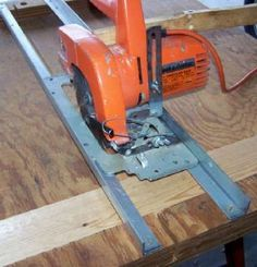 Build rails for your circular saw.