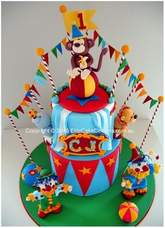 Circus Cake Idea..WOW!  I'm thinking it is out of my league...