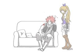 Lucy Heartfilia and Natsu Dragneel - Nalu Fairy Tail Nalu, Fairy Tail Love, Fairy Tail Ships, Fairy Tail Natsu And Lucy, Fairy Tail Funny, Fairytail, Jellal, Gruvia, Couples Fairy Tail