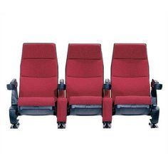 Bass Regal Home Theater Seating (Row of 3) Color: Leather-Classico Wine
