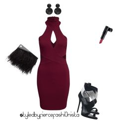 """""""Burgundy love"""" by fiercefashi0nista on Polyvore featuring Laura Geller, Giuseppe Zanotti, McQ by Alexander McQueen, burgundy and fashionset"""