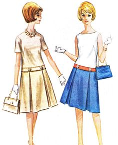 1960s Dress Pattern McCalls 6178 Two Piece Dress by paneenjerez, $16.00
