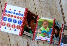 Grandpa's Brag Book also Perfect for Dads. Proud grandpas and papas need to be able to show off their adorable offspring anywhere, any time. Learn how to easily make Dad his own brag book that he can easily fold up and fit into his wallet here. Diy Father's Day Gifts From Baby, Diy Christmas Gifts For Dad, Easy Father's Day Gifts, Inexpensive Christmas Gifts, Christmas On A Budget, Homemade Christmas, Christmas Ideas, Christmas Decorations, Brag Book