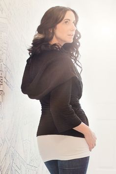 Image of Hooded Jacket with Waist Tie - Black