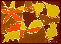 Kids Artists: Autumn leaves in cubist style
