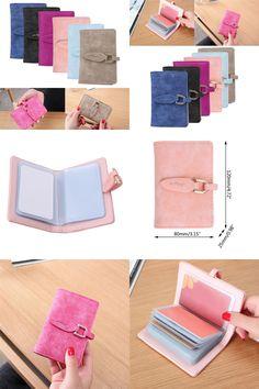 [Visit to Buy] THINKTHENDO PU Leather Credit Card Holder Leaf Wallet ID Holder Clutch Handbag For Women Ladies #Advertisement