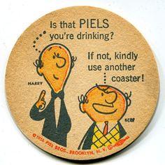 Coaster Art, Beer Coasters, Beer Label, Vintage Advertisements, History, Antiques, Advertising, Characters, Antiquities