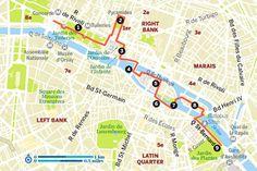 Read The perfect romantic riverside walk in Paris