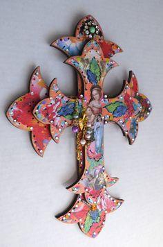 Virgen de Guadalupe Wooden Cross Religious by OliviabyDesign, $26.95
