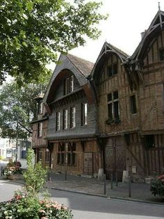 Old houses in Troyes,Champagne, France