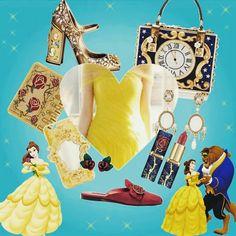 Quando eu falo que Beauty and the Beast e outros contos da Disney inspiram as coisas mais lindas que podemos ter. Como estes acessórios da Dolce & Gabbana, L'Oréal, Swarovski etc.💎✨ #beautyandthebeast #disneyprincess #inspired #amazing #fashion #accessories *Art by me.