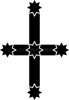 Eureka Flag b/w portrait