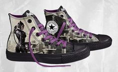 DC Comics x Converse Chuck Taylor All Star Batman Arkham City- THESE are Catwoman Chucks!