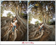 Engagement photography in Balboa Park San Diego by Red Trolley Studio
