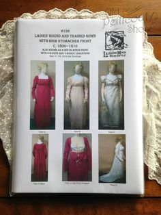 Laughing Moon #126 Ladies' Round & Trained Gown Pattern – Old Petticoat Shop