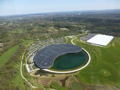 The McLaren Technology Centre and McLaren Production Centre from the air