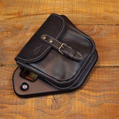 Leather saddlebag for V7 - Black color