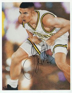 NBA Champion Jason Kidd Autograph Hand Signed Framed Picture