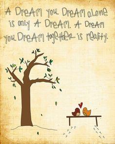 Nice print 'Dreams as one' by Jennifer Zetts