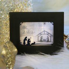 Nativity Shadowbox (Organza)