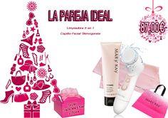 LA PAREJA IDEAL: Limpiadora 3 en 1 TimeWise mas Cepillo facial Skinvigorate y, de regalo, una bolsa y una toalla Mary Kay