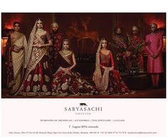 #Sabyasachi #Couture2016 #Womenswear #Menswear #Accessories Appointments for #BridesAndGrooms from 1st of August 2016 onwards, at the #SabyasachiFlagshipStoreMumbai @sabyasachimumbai #KishandasForSabyasachi #TheWorldOfSabyasachi @kishandasjewellery @trunkscompany