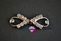 Rhinestone Bridal Belt Buckle - Petite Wedding Sash buckle - Clasp Closure - DIY Bridal - Vintage Inspired (BB004) on Etsy, $3.50