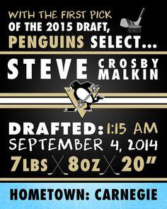 NHL Pittsburgh Penguins Hockey Wall Art by FaithFamilyFunDesign