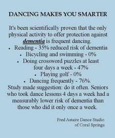 Another reason to learn how to dance other than great exercise.