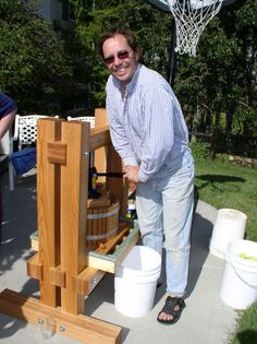 apple cider press -- first production