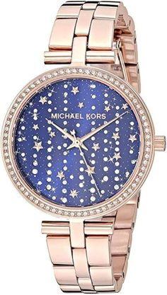 Michael kors damen maci quarz-uhr mit edelstahl-armband... Se gold... Odel m kleidung