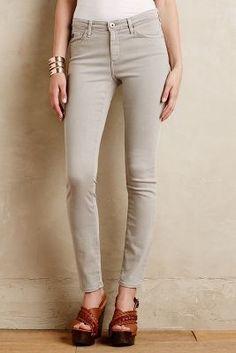 AG Prima Straight-Leg Jeans Light Grey 30 Denim #anthropologie #gray #jeans #fashion #grey