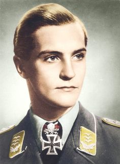 The legend himself, Hans Joachim Marseille. Based on a black/white photo from 1942.