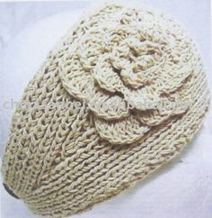 Knitting Patterns For Ear Warmers With Flower : knitted ear warmers on Pinterest Ear Warmers, Ear Warmer ...