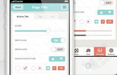 Flat iPhone App UI Template : Image 3