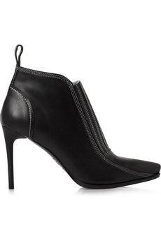 McQ Alexander McQueen Leather ankle boots | THE OUTNET