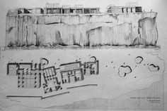 Can Lis. By architecture University of Navarra Student. Side View Drawing, Jorn Utzon, Modern Architecture, Villa, House, Canning, How To Plan, Inspiration, Architectural Drawings
