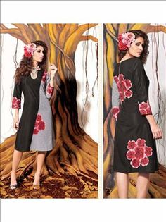 Let your persona be the most glamarous & stylish among the crowd. Beautiful Black color kurti at xeroshop.com only in Rs.1570.4 buy onlin now