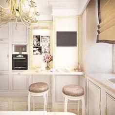 Воздушный интерьер в доме исторического наследия: Кухни в . Автор – Дизайн-бюро Анны Шаркуновой 'East-West'