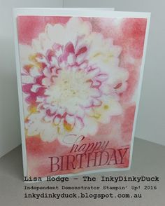 The InkyDinkyDuck:   Emboss Resist Technique With A Twist - Step It Up Class Yesterday http://inkydinkyduck.blogspot.com.au/  http://www.stampinup.net/esuite/home/inkydinkyduck/   #StampinUp #StampinUpAustralia #DefinitelyDahlia #HappyBirthdayEveryone #EmbossResist #2016 #Australia #CameronPark #NSW #StampByMail #Newcastle #LakeMacquarie #Maitland