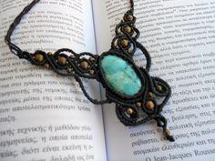 macrame necklace,handmade necklace,macrame jewellery,bohemian jewellery,turquoise necklace,bohemian necklace,boho fashion,fuchsite necklace