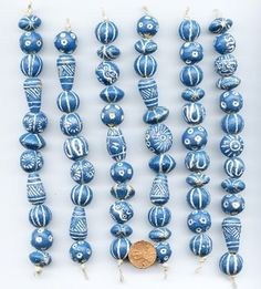 clay S. African Beads from Soul of Somanya Ceramic Necklace, Ceramic Pendant, Ceramic Jewelry, Ceramic Beads, African Trade Beads, Polymer Clay Beads, Beaded Jewelry, Glass Beads, Jewelery
