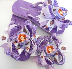 Princess Sofia the first Boutique Flip flops by AllThingsGirlyBows